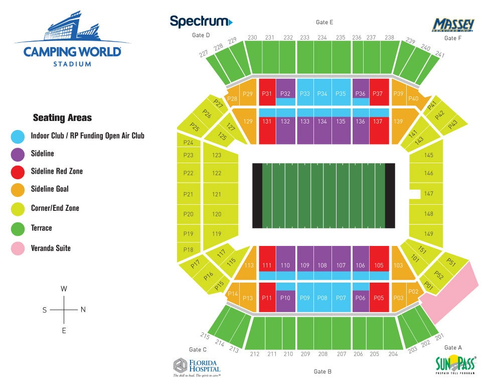 Citrus Bowl Seating Map VRBO CITRUS BOWL | Camping World Stadium Citrus Bowl Seating Map