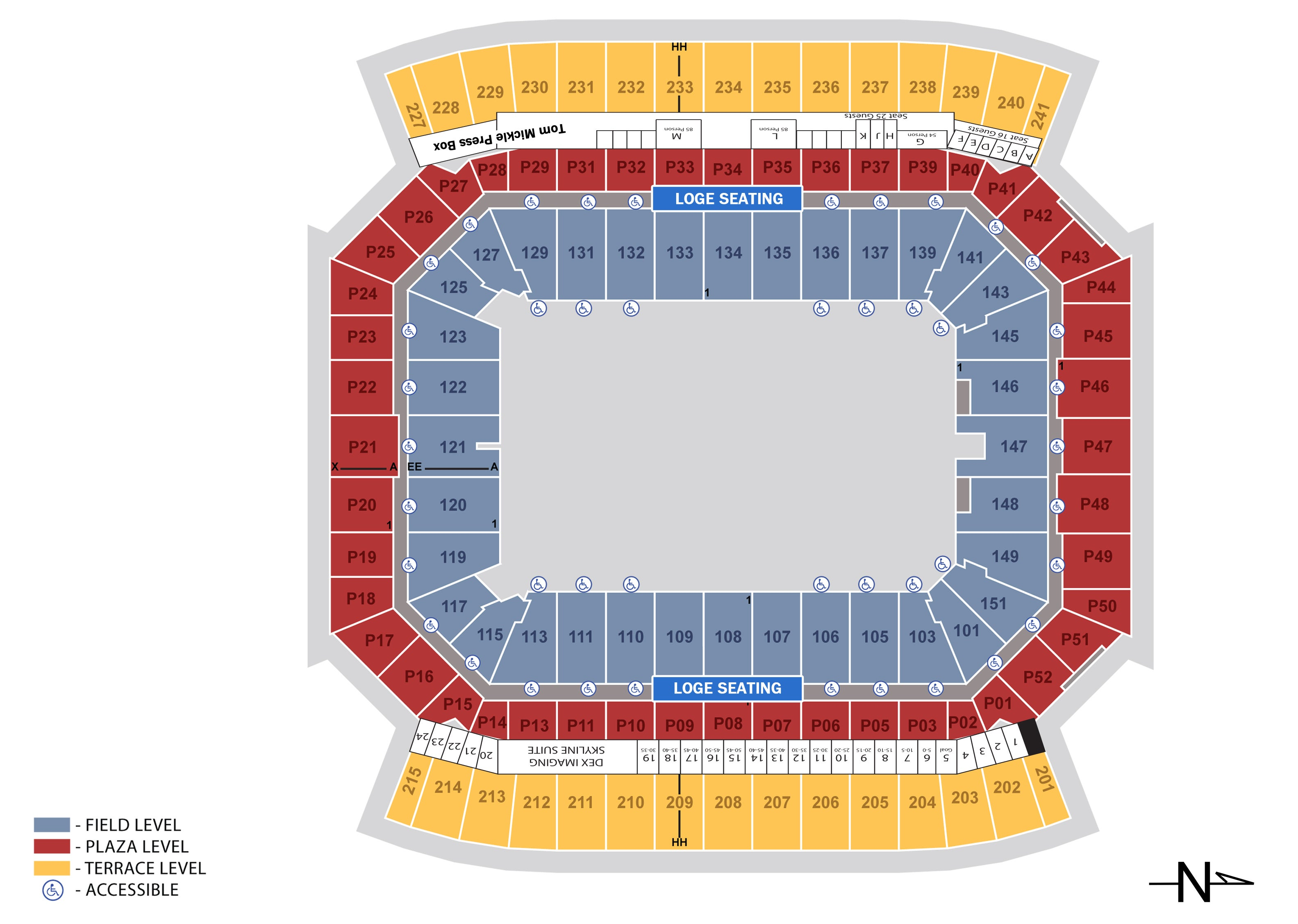 Seating charts camping world stadium